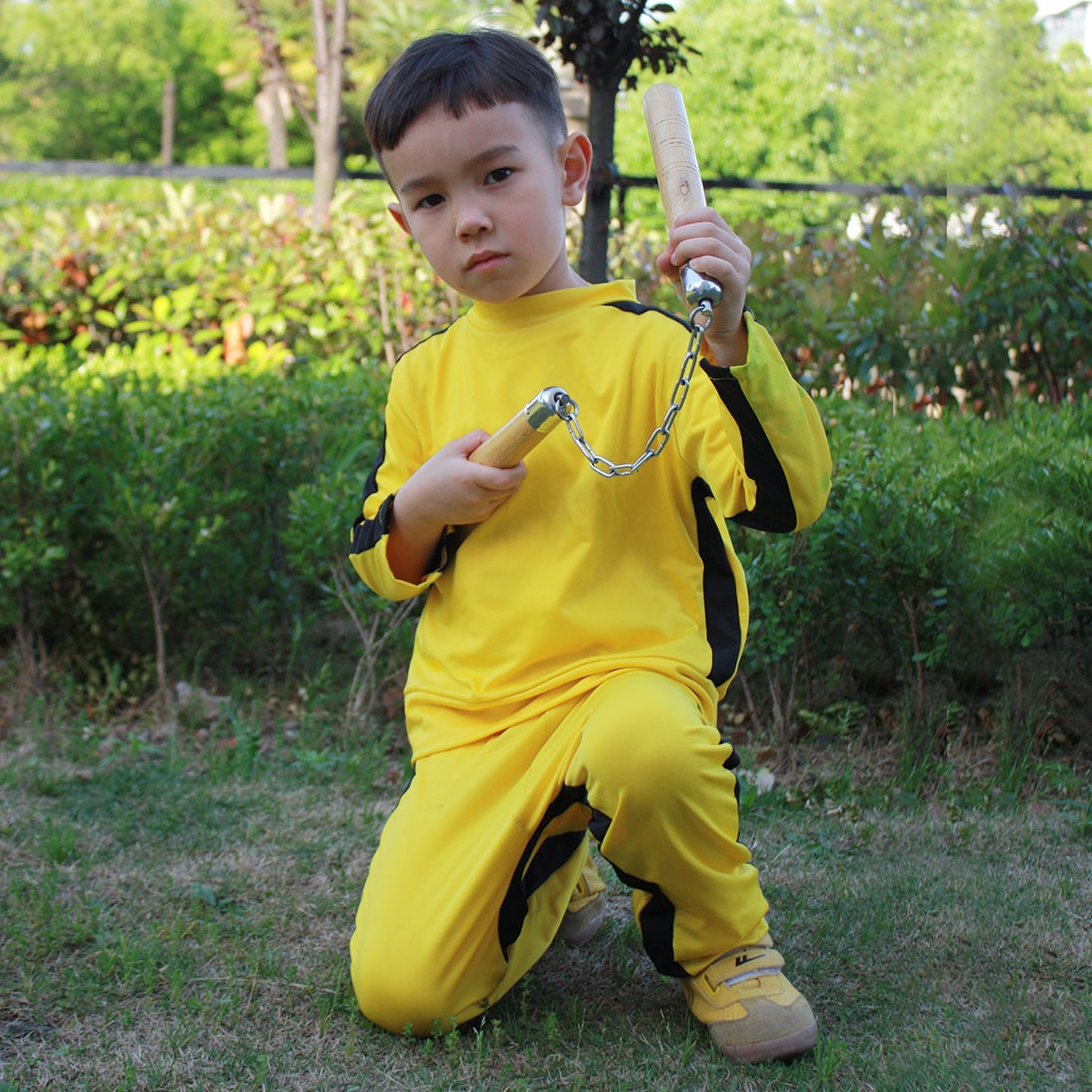Bruce Lee Wing Chun Kung Fu 3 Pieces Suit Costume Martial Arts Outfit Uniform