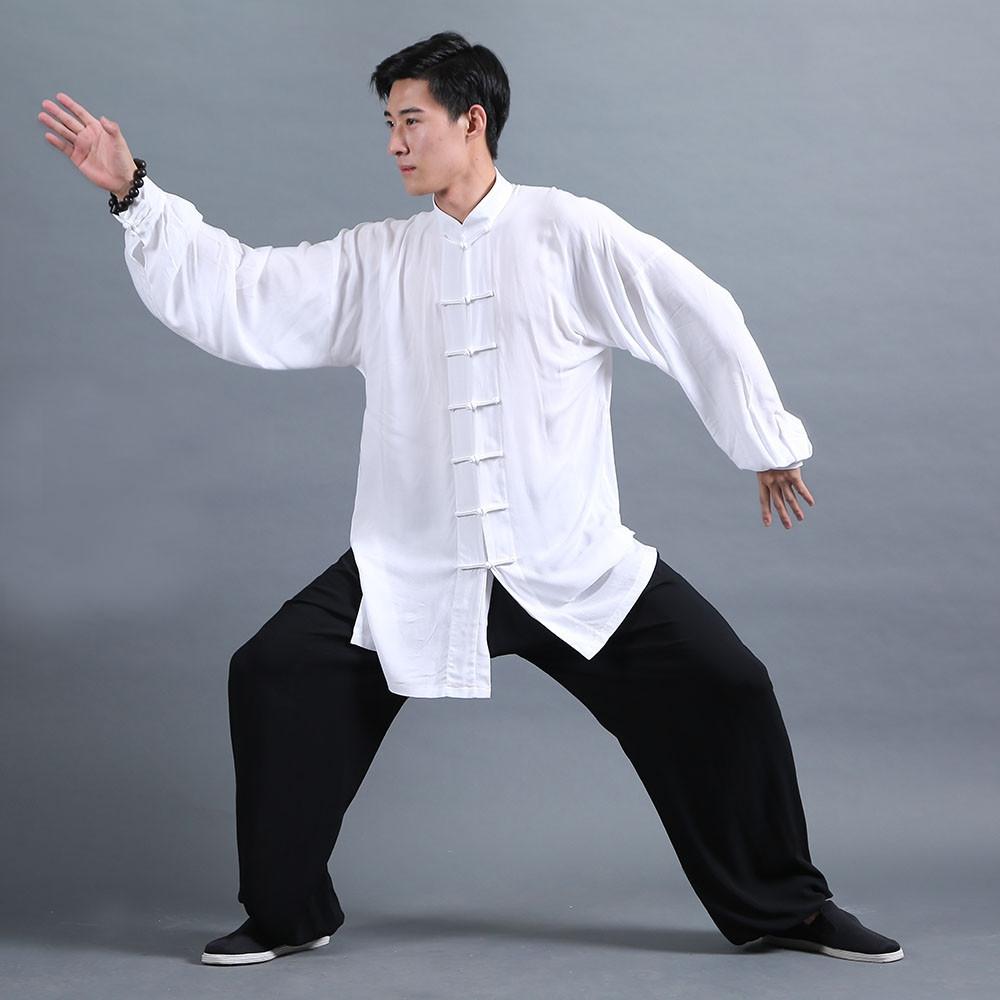 Classic Tai Chi Kung Fu Uniform Black and White - Webmartial