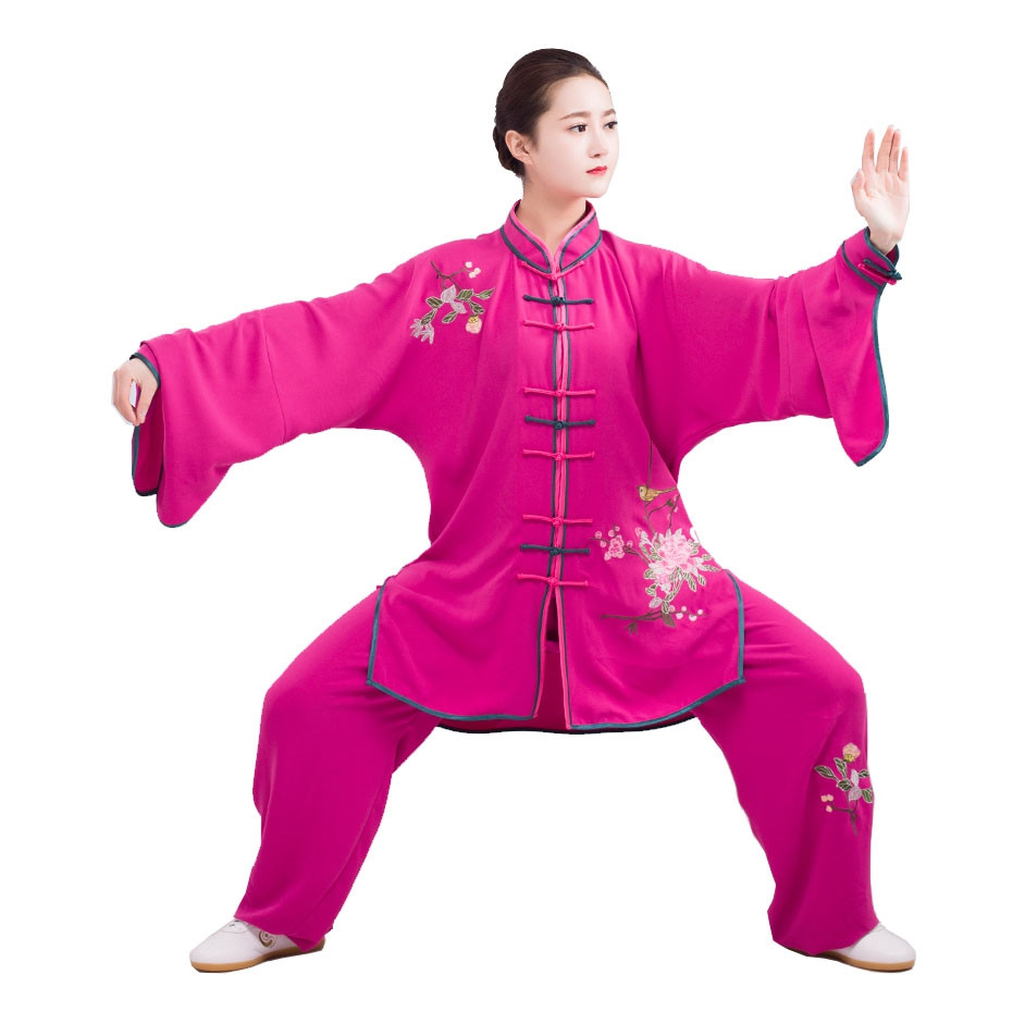 Embroidery Tai Chi Woman Demonstration Uniform, Chun Yi