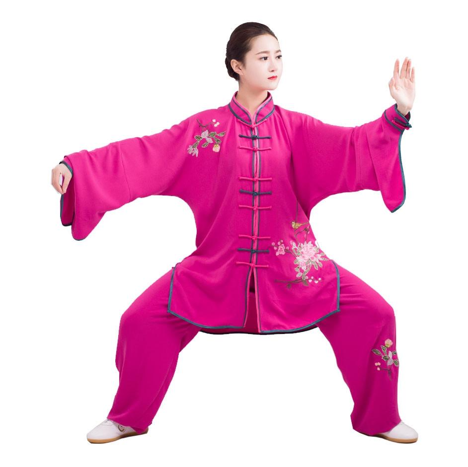 Embroidery Tai Chi Woman Demonstration Uniform, Chun Yi