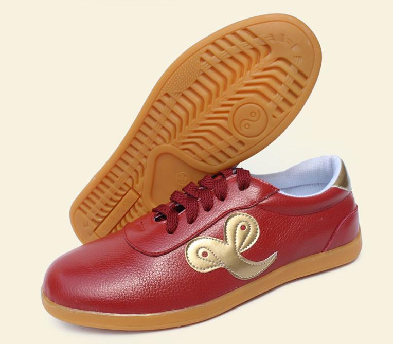 Leather Tai Chi shoes, Golden Xiang Yun