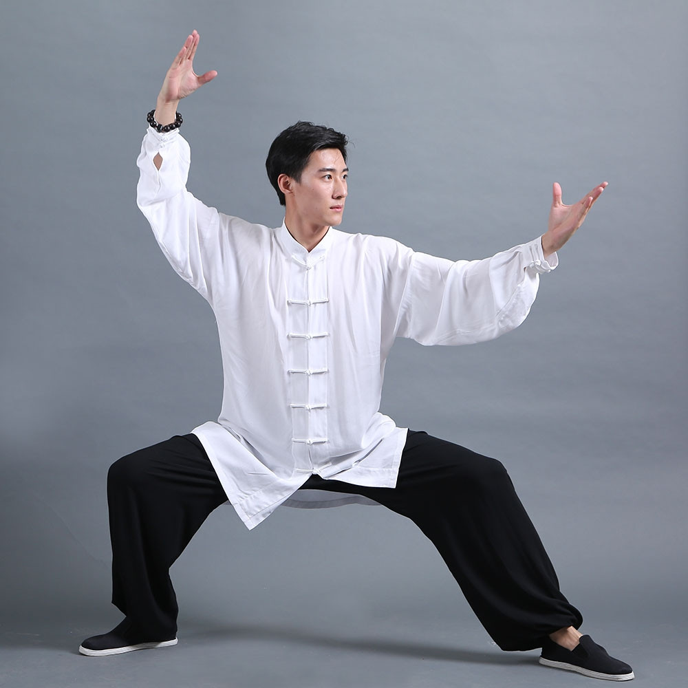 Classic Tai Chi Kung Fu Uniform Black and White