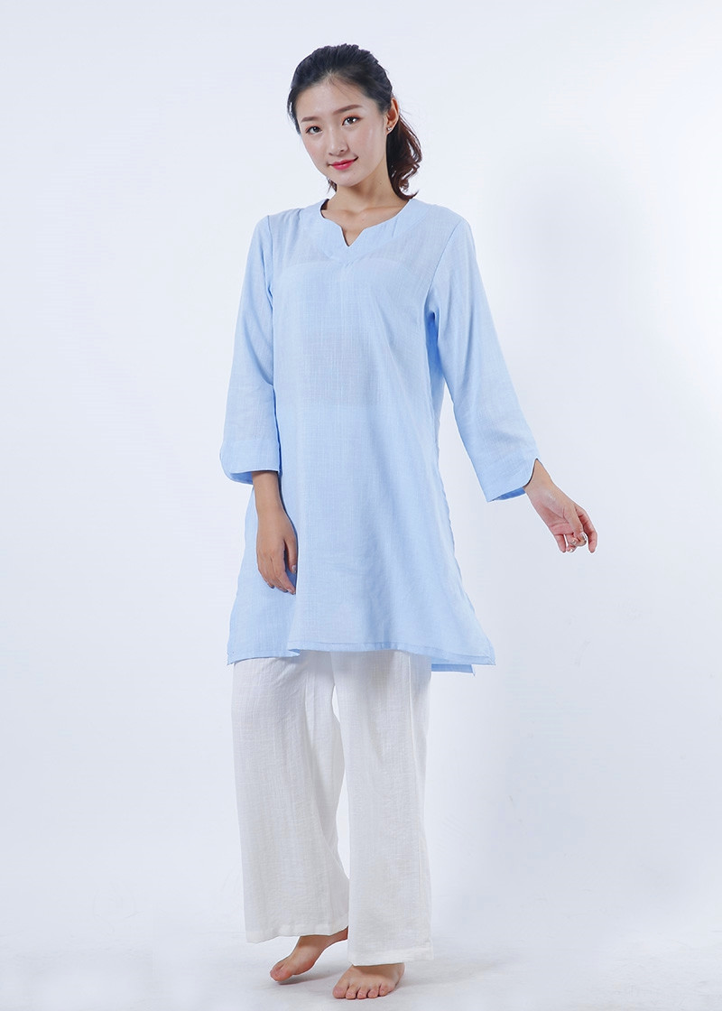 Linen and Natural Silk ZEN / Qi Gong Uniform