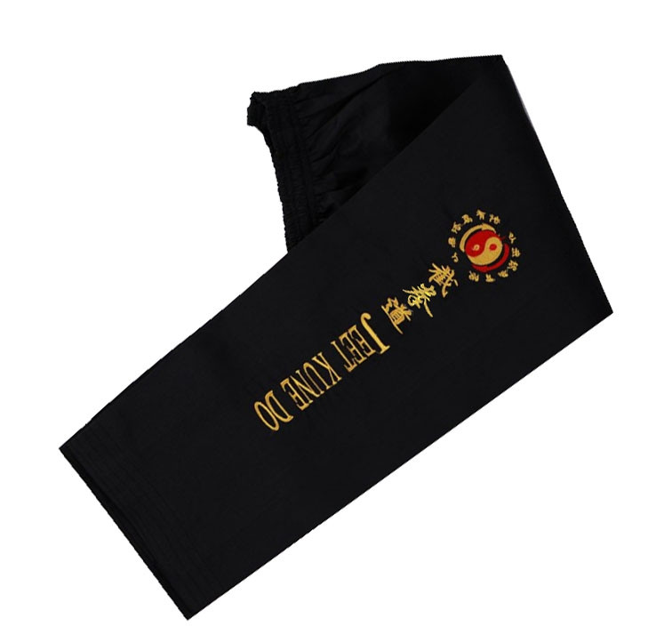Embroidered Jeet Kune Do Training pants wide bottom