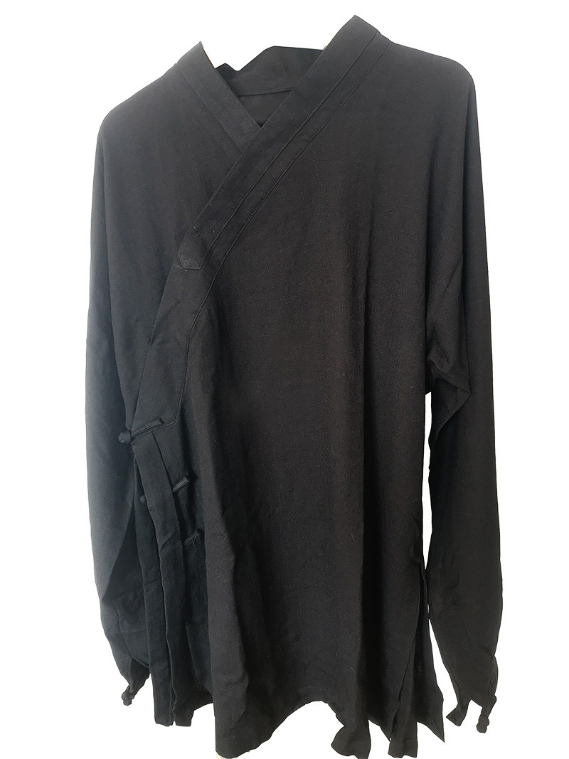 [Destock] Black Traditional Wudang Short robe, 185cm
