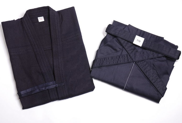 Kendogi (Keikogi) and Hakama Navy Blue for beginner