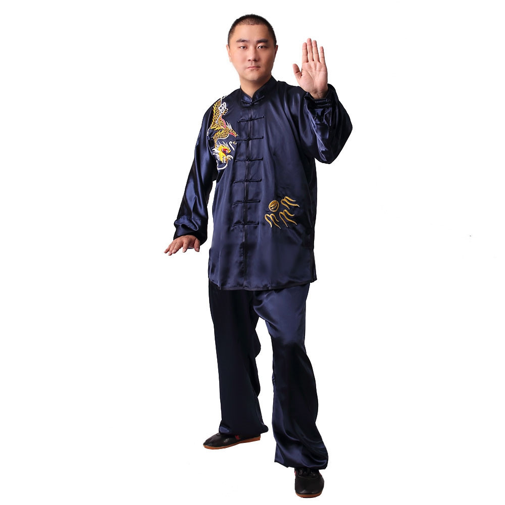 [DESTOCK] Tai Chi Man Uniform Embroidery of Dragon, Tian Long 185cm/6'1''