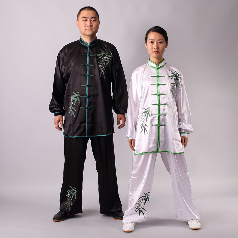 [DESTOCK] Tai Chi  Uniform Embroidery of Bamboo, Day and Night