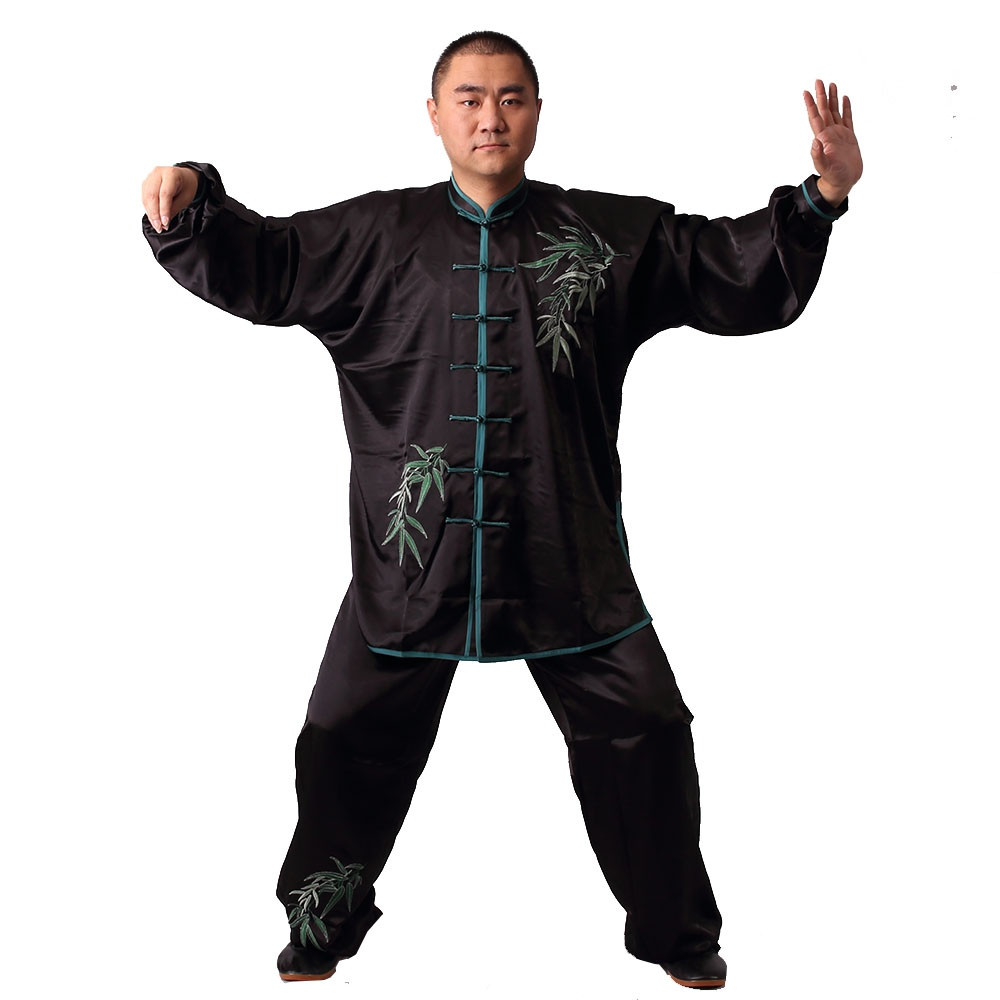 [DESTOCK] Tai Chi Man Uniform Embroidery of bamboo160cm/5'3''