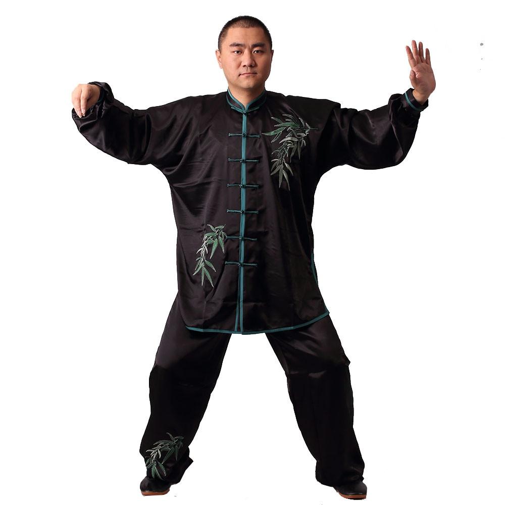 [DESTOCK] Tai Chi Man Uniform Embroidery of bamboo160cm/5'3''