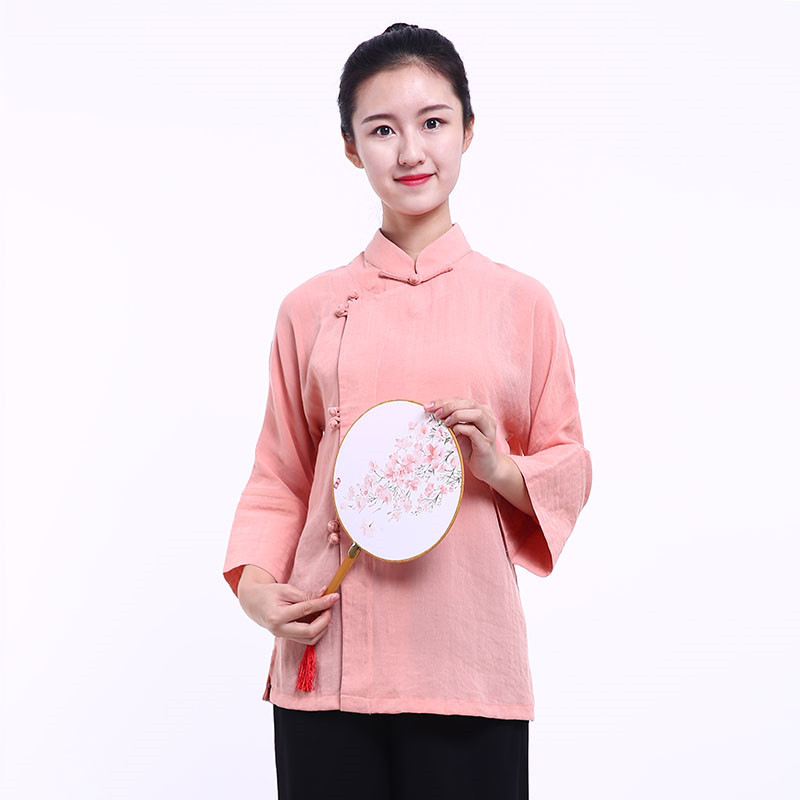 [DESTOCK] Chinese Woman Blouse - Spring Peach Flower 160cm