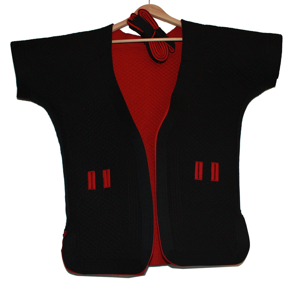 Reversible Black and Red Thick Cotton Shuai Jiao/Wrestling Jacket