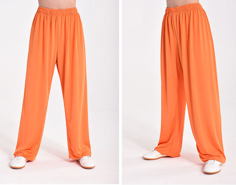Shao Lin Kung Fu pants Sportif Fabric Quick Dry, Orange