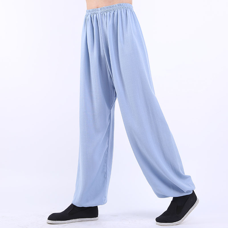 [DESTOCK] Linen Tai Chi / Kung Fu pants 190cm 6'2'' light blue