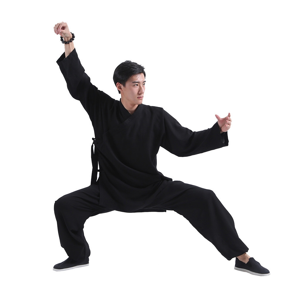 Black Traditional Wudang Uniform, Short robe