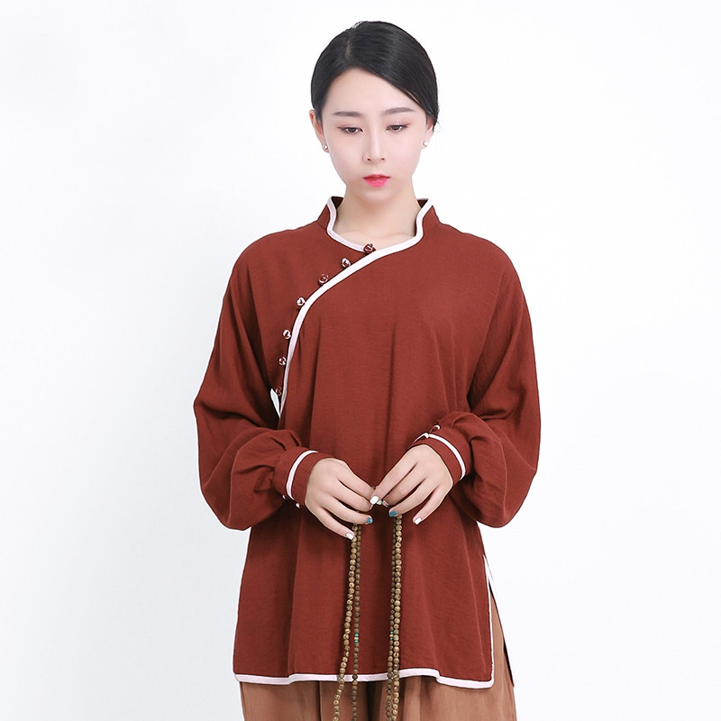 Qi Gong and meditation Woman Blouser, U Collar