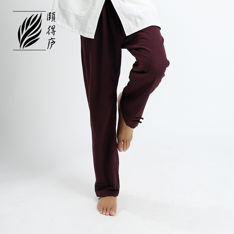 [Destock] Purple Red Coarse cotton pants Ru Yi