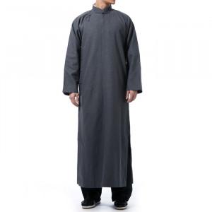 Natural Linen Traditional Chinese Long Robe, Chang Shan