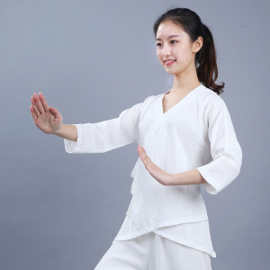 Coton and linen Qi Gong and meditation Woman Blouse