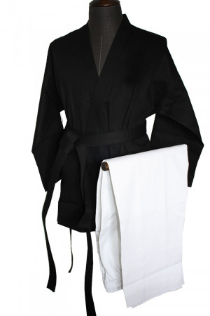 Kempo/Kenpo Uniform Black and White