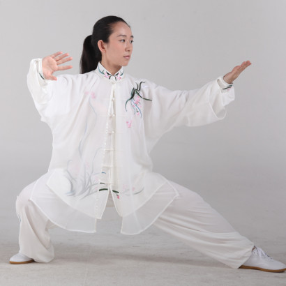 Tai Chi 3 Pieces Demonstration Uniform, Chinese orchids