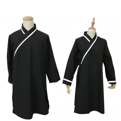 Black with white line Traditional Wudang Uniform