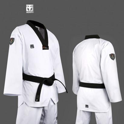 MOOTO Basic Black V-neck Taekwondo Uniform