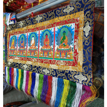 Fofan Religious Embroidery, Buddhist streamers, Tangka Wu Fang Fo
