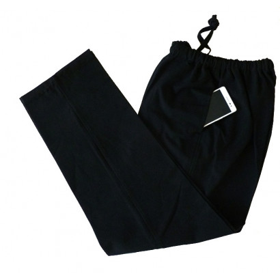 Coarse Kung Fu cotton pants wide bottom
