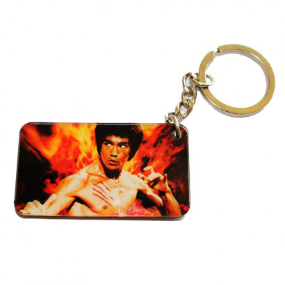 Bruce Lee double-sided key ring