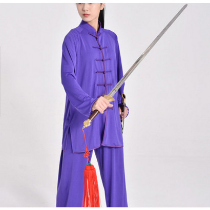 Purple Tai Chi / Kung Fu Uniform Sport Fabric