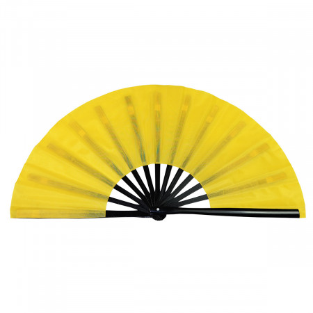 Tai Chi bamboo fan uni-color