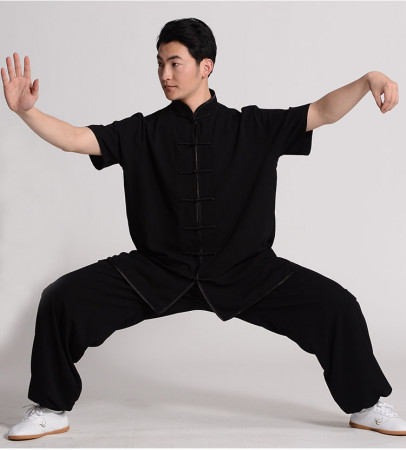 Chang Quan Kung Fu/Tai Chi Summer imitation Cotton and Silk Short Sleeves Uniform