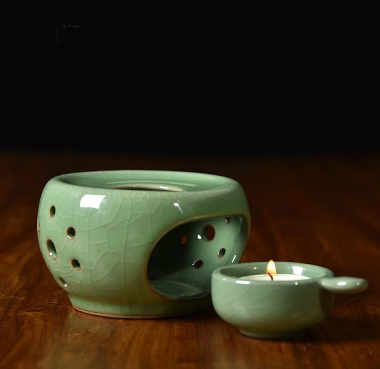 Chauffe-théière en céramique Celadon