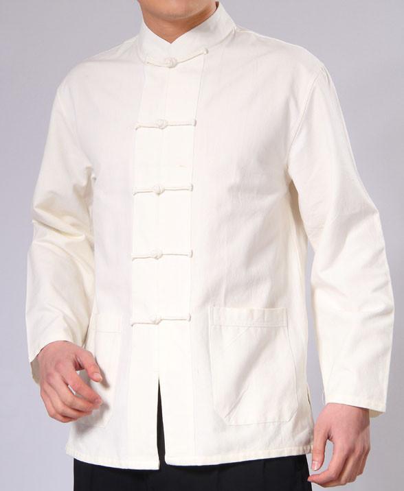 Veste Kung Fu en coton épais naturel