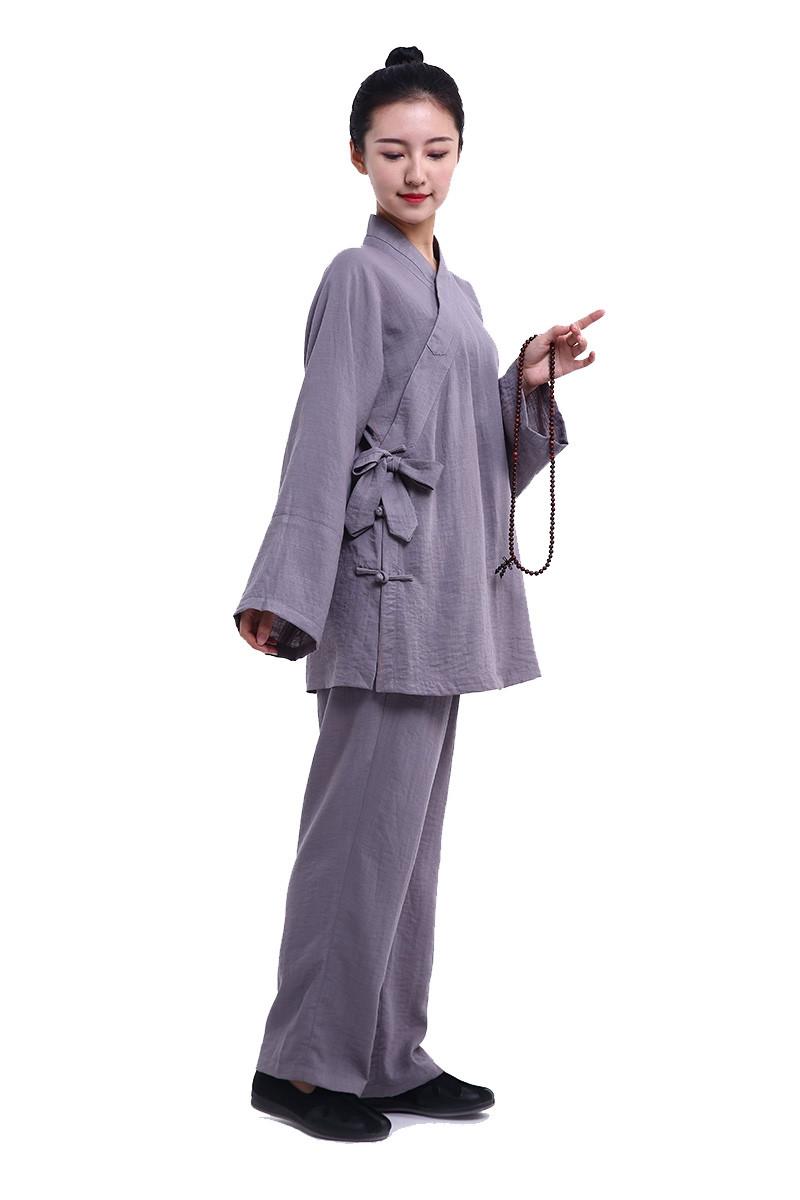 Tenue Wu Dang personnalisé en lin et soie