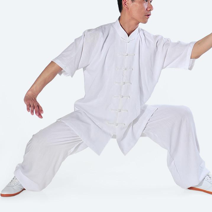 Tenue manches courtes Tai Chi Kung Fu en lin