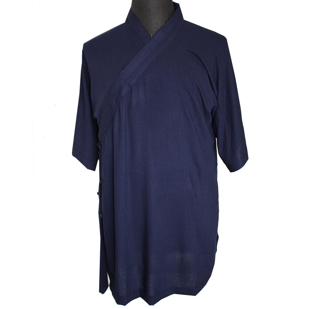 DESTOCK[ ]Tenue de Wudang manche courtes en lin et soie naturelle 165cm