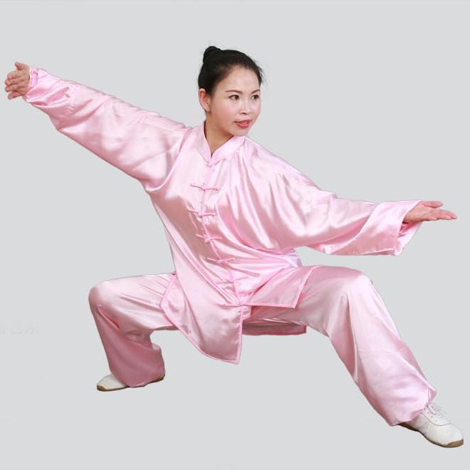 Tenue Tai Chi en imitation soie (soie coréenne)