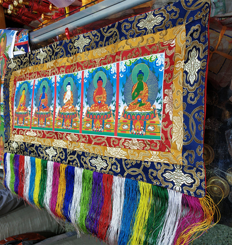 Broderie religieuse Fofan, banderoles bouddhistes, Tangka Wu Fang Fo