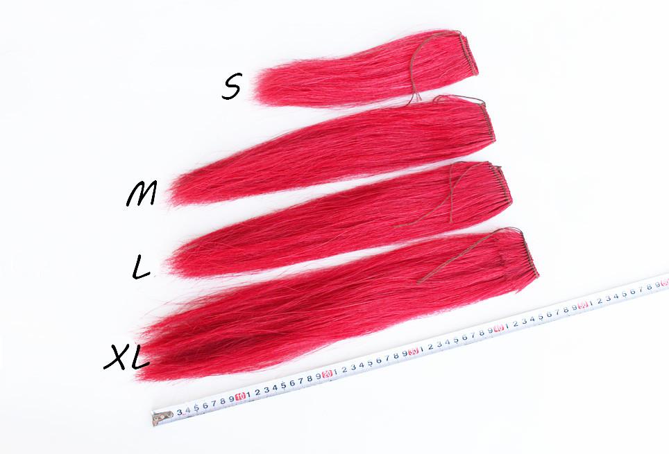 Hong Ying, décoration rouge pour lance, queue de cheval