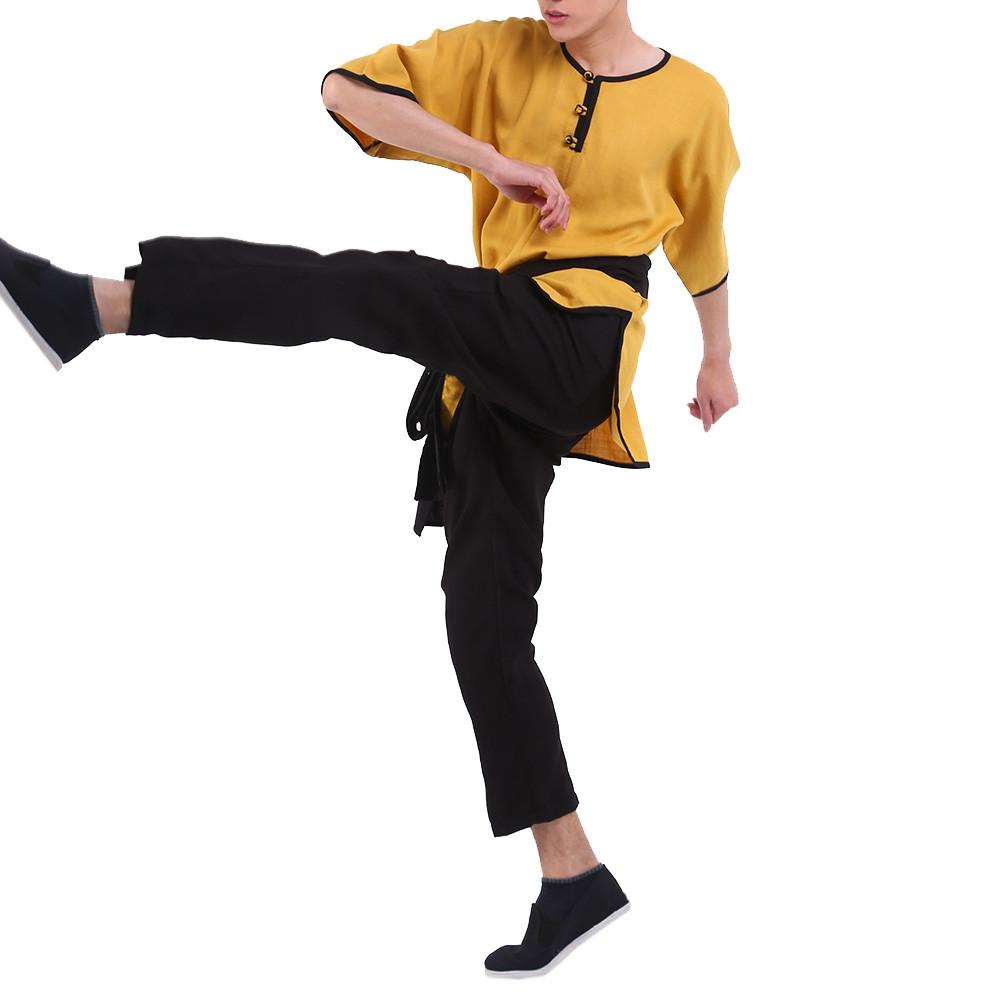 Tenue de Kung Fu ou vie quoitidienne en lin, tigre