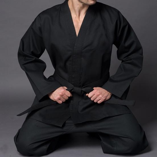 Kimono débutant Kempo / Kenpo entraînement en toile de coton Noir