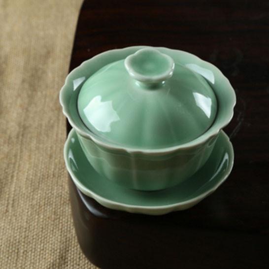 Tasse de thé en céramique Celadon Kung Fu Cha 200 ml, He Ye
