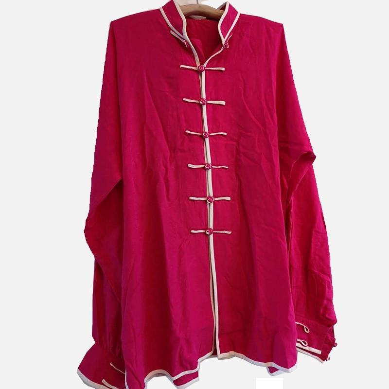 [DESTOCK] Tai Chi Kung Fu jacket brocade light cotton Rose red 170cm
