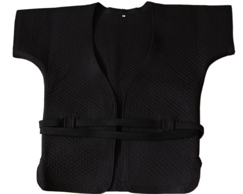 Veste noire de Shuai Jiao épaisse en coton