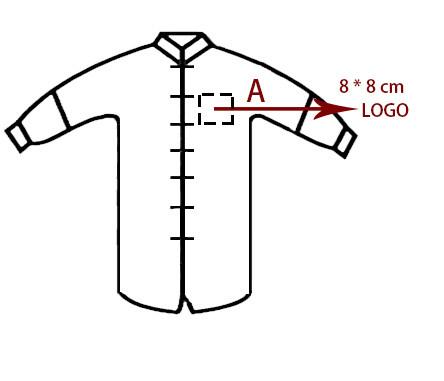 Service de LOGO imprimé pour veste traditionnelle