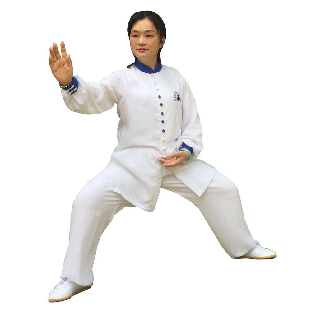 Veste, Tenue Tai Chi / Kung Fu en lin et soie personnalisée pour l'été, Shi Yi Duo