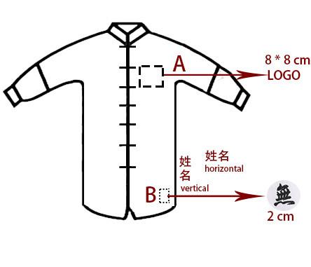 Service de LOGO brodé pour veste traditionnelle