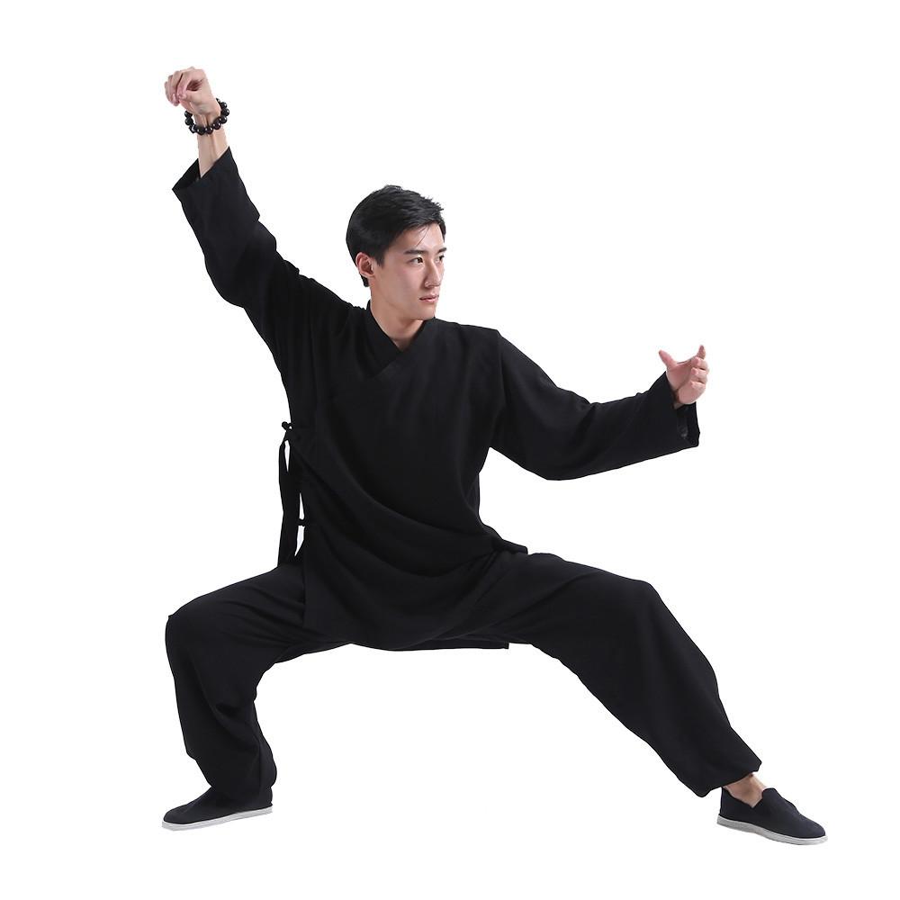 Tenue de Wudang traditionnelle noire, robe courte